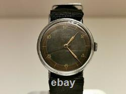 Vintage Rare Collectible Swiss Ww2 Military Style Men's Watch Cyma Tavannes 3