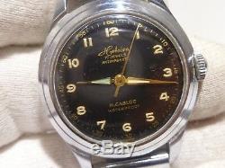 Vintage Rare Heloisa Incabloc Automatic German Military 17 j. Men's Watch Swiss