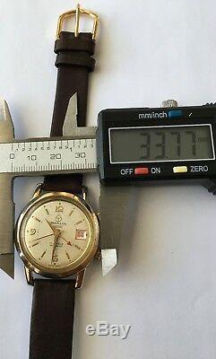 Vintage Rare Medallion Datofonic Alarm watch Incabloc 17 Jewels RODANIA Swiss