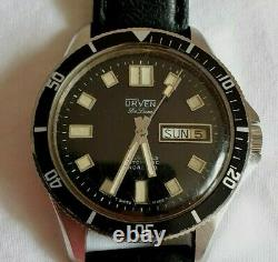 Vintage Rare ORVEN Deluxe Swiss Made 25 Jewel Automatic Diver Watch Serviced