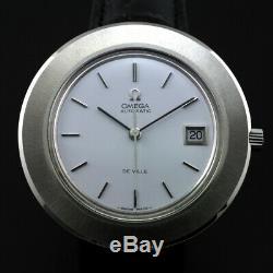 Vintage Rare Omega De Ville Automatic Date 40mm Jumbo Size Men's Swiss Watch