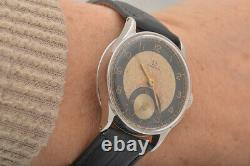 Vintage Rare Omega bullseye two tone dial Swiss watch with warranty included