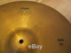 Vintage & Rare Paiste 505 Cymbal Set Swiss Made 14 HiHat / 16 Crash / 20 Ride