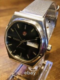 Vintage Rare RADO VOYAGER Day & Date Automatic Gents Swiss Watch, 1980's