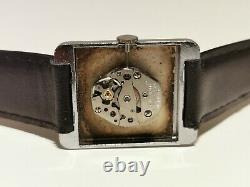 Vintage Rare Rectangular Tank Beautiful Swiss Men's Mechanical Watch Oris