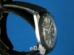 Vintage Rare Signal All Guard Swiss Diver 17j Stainless Mens Watch Serviced 1960