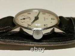 Vintage Rare Small St. Steel Ww2 Era Swiss 28.5mm Men's Mechanical Watch Omega