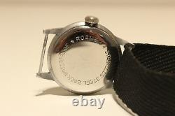 Vintage Rare Small Ww2 Era Swiss Men's Mechanical Watch Roamer /two Tone Dial