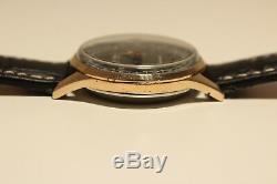 Vintage Rare Swiss Gold Plated Men's Chronograph Watch Delbana 17j. /black Dial