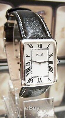 Vintage Rare Swiss Piaget Solid 18k White Gold MID Size Watch Serviced Cal 9p1