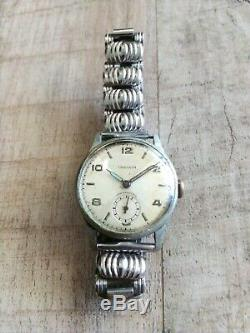 Vintage Rare Swiss Unicorn Stainless Steel Watch 1940's