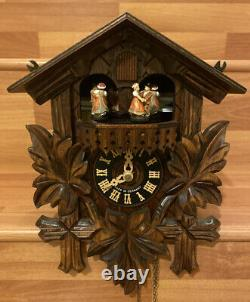 Vintage Rare West German Chalet Style Musical Cuckoo Swiss Movement Clock