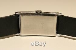 Vintage Rare Ww2 Era Rectangular Men's Swiss Watch Ancre Suisse 15j. /mint