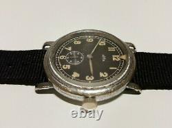 Vintage Rare Ww2 Military Pilots Aviator 40mm Men's Swiss Watch Homis 15 J