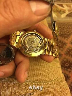 Vintage Rare Zodiac Astro II Astrographic Automatic Watch Gold Plated Swiss Made