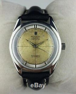 Vintage Rare universal polerouter micro rotar automatic Swiss mens working wrist
