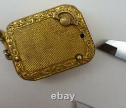 Vintage Reuge Swiss Made Ste Croix Music Box Pendant Gp Wind Up Collectible Rare