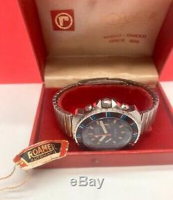 Vintage Roamer Stingray Jet-Time Chronograph Swiss Valjoux 23 NOS Complete Rare