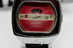Vintage SPENDID Mechanical Jump Hour Swiss Made DIGITAL 1970 Rare Serviced