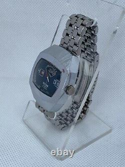 Vintage Sicura Jump Hour Swiss Rare Wrist Watch Old Retro 17 Jewels Suisse