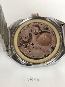 Vintage Sicura Jump Hour Wrist Watch 17Jewels Rare Mechanical 1970s Retro Swiss