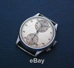 Vintage Sigma Single Button Chronograph Venus Cal. 140 RARE 1930s Swiss Watch