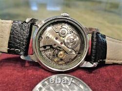 Vintage Ultra Rare Gents Wittnauer Cross Hair 11WSG Cal. Swiss Made Watch Repair
