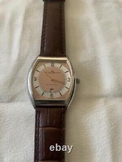 Vintage Van Der Bauwede Silver 800 Automatic Watch Rare Dial Swiss 25 Jewel