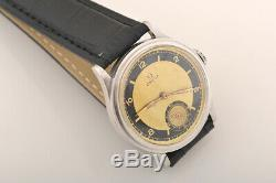Vintage Very Rare Omega bullseye two-tone dial Swiss made watch with warranty