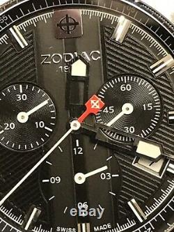 Vintage Zodiac 1882 Men's Chronograph ZO2116 Shelby Sea Dragon Swiss Quartz Rare