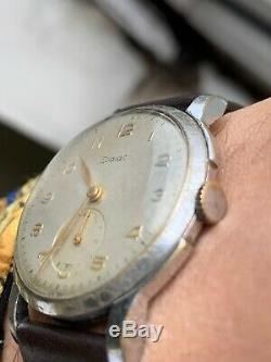 Vintage Zodiac Hermetic 70s Bubble Back Ultra Rare Mens Watch Swiss 33,3mm