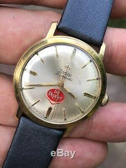 Vintage Zodiac Hermetic Dr Pepper Ultra Rare Mens Watch Swiss Cal. 64 33,8mm