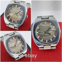 Vintage Zodiac Olympos Automatic Sst Swiss Made Day/date Rare Mens Wrist Watch