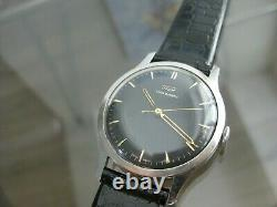 Vintage and Rare Tissot Watch Co 16 Jewels Swiss Made Black Dial Wrist watch