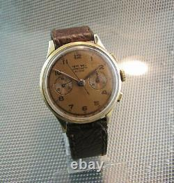 Vintage, rare CHRONOGRAPH TEVO W C. O. Landeron. 17 Jewels. 50'. Swiss