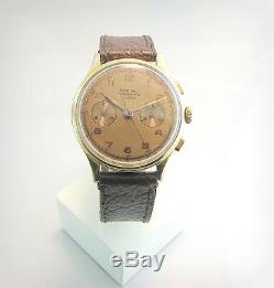 Vintage, rare CHRONOGRAPH TEVO W. C. O Landeron. 17 Jewels. 50'. Swiss