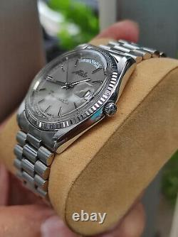 Vintage rare Mido Commander Day Date Mido 8299 authentic SWISS superb condition