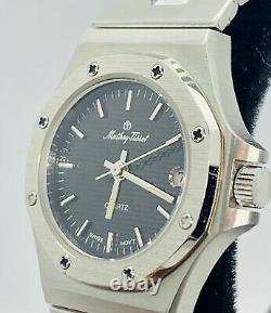 Vtg Mathey Tissot Ladies Quartz Watch Swiss 1j Date Stainless Rare Royal Oak