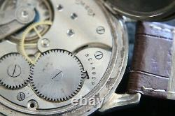WORLD TIME Vintage 1925`s rare LUXURY Swiss movement Marriage rare Driving Watch