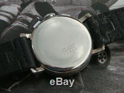 Wema Suisse Swiss rare 40s Deco WW2 era landeron 48 chronograph watch serviced