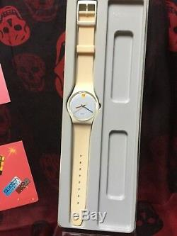 Wristwatch SWATCH Gent DOTTED SWISS (GW104)-in rare plastic case! 1985! Vintage