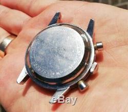Wyler Chronograph Vintage Watch Valjoux 72 Incaflex Panda Dial Swiss Made Rare