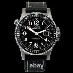 Xezo Air Commando Swiss Made Automatic ETA 2893-2 GMT Watch. RARE VINTAGE-BLACK