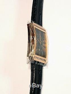 Xezo RARE VINTAGE Ca. 2001 Architect 18K Rose Gold Pl. Watch. #007. Swiss Quartz
