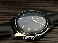 Zenith Antique Wristwatch Blue Dial Swiss Made Vintage Rare Mens Manual Winding