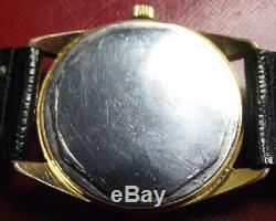 Zenith Star 6400 Date- Rare Vintage'60 Gold S. Steel Back Manual Wind -swiss