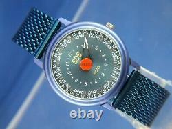 Zeno Solo SOS Quartz One Hand Watch Mystery Dial SWISS Vintage RARE 1990s